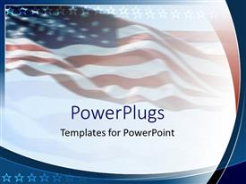 Colorful theme having an American flag in the background