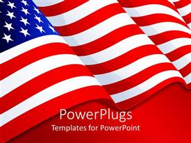 Slide deck with american flag patriotic background with stars and stripes, red white and blue