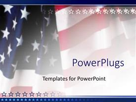 Slide set featuring american flag patriotic on faded background