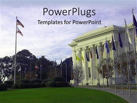 5000 government powerpoint templates w government themed backgrounds ppt theme featuring american government house with different country flags in front template size toneelgroepblik Gallery