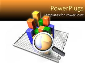 PPT theme enhanced with analyzing charts and data business sales marketing looking close details