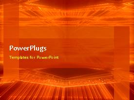 PPT layouts featuring animated abstract network background with revolving orange colored poles