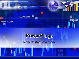 Colorful presentation design having animated background for currency exchange market in main cities of world new york london tokyo