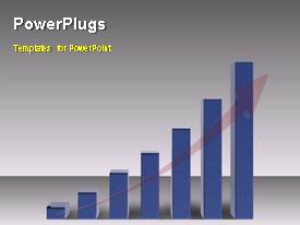 PPT layouts having animated depiction of growth with businessman walking on bar chart