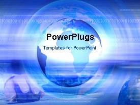 Powerpoint template climate change concept planet earth with colorful ppt theme having animated depiction of internet with globecomputer mouse and binary numbers toneelgroepblik Images