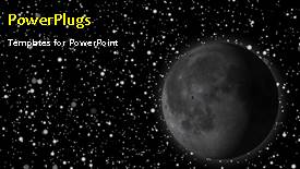 Colorful slide deck having animated depiction of the solar system with moon and stars - widescreen format