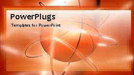 Slide deck consisting of animated sport depiction with rotating ball in orange background - widescreen format