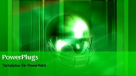 Theme enhanced with animated sports depiction with American football protective helmet - widescreen format