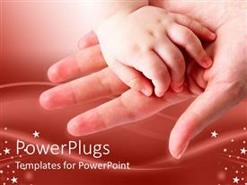 Beautiful PPT layouts with baby's hand on mother's open palm