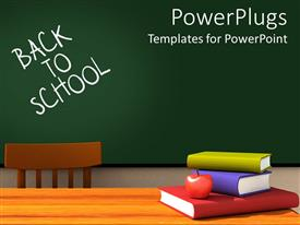 5000 classroom powerpoint templates w classroom themed backgrounds elegant presentation theme enhanced with back to school classroom with chalkboard and desk with books and toneelgroepblik