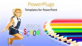 PPT layouts having a kid happy because of being back in school