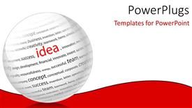 Beautiful slide set with a large white ball with lots of text in it and an outstanding