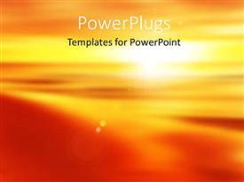 Audience pleasing presentation theme featuring beautiful abstract sunset with colors