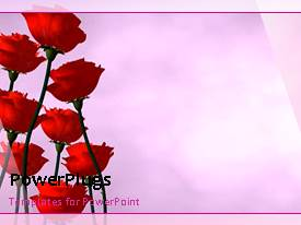 Theme featuring beautiful animated abstract background with rotating rose flower