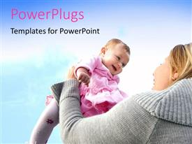 PPT layouts consisting of a mother playing with her child