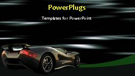 Elegant slide deck enhanced with beautiful black colored sport car on animated background - widescreen format