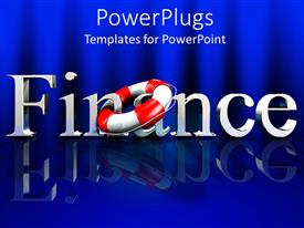 Theme enhanced with a beautiful depiction of a finance related theme with bluish background