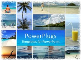 Elegant PPT layouts enhanced with a beautiful depiction of a number of refreshing places