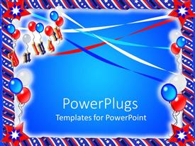 Colorful presentation having a beautiful depiction of part related stuff with bluish background