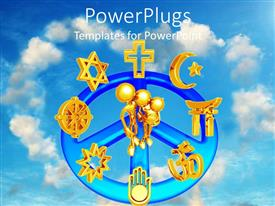 Amazing presentation design consisting of a beautiful depiction of various religious signs and unity between them