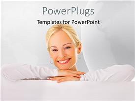 PPT layouts with a beautiful girl with a white background