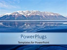 Beautiful PPT layouts with beautiful landscape of Alaska mountains with reflection in water