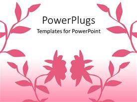 Presentation with beautiful pinkish background including flowers of the same color