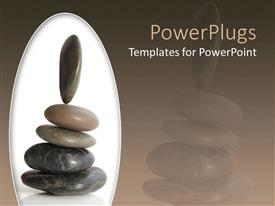 Slide set featuring a beautiful representation of a group of zen stones place don each other
