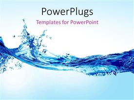 Presentation theme enhanced with beautiful splash of water forming shape