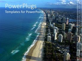 PPT theme with beautiful view of Australia with ocean, beach and city view