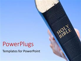 PPT layouts with the bible with bluish background and place for text