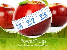 5000 grocery powerpoint templates w grocery themed backgrounds audience pleasing ppt theme featuring big red apple with a white measuring tape round it template size toneelgroepblik Image collections