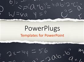 Math instruments powerpoint template.
