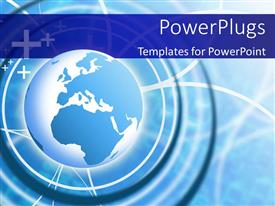 5000 logistics powerpoint templates w logistics themed backgrounds ppt theme enhanced with blue earth globe over light glow and blue patterned background toneelgroepblik Gallery