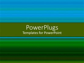 Presentation design enhanced with blue and green background with place for text in the middle