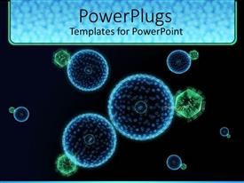 5000 virus powerpoint templates w virus themed backgrounds presentation design featuring blue and green hive virus cells with black background toneelgroepblik Gallery