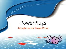 Amazing slide deck consisting of a bluish and white background with dices