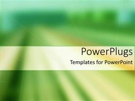 Presentation design enhanced with a blurred background with place for text