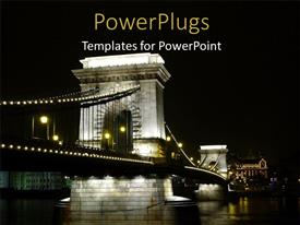 PPT theme enhanced with a bridge with sky in the background