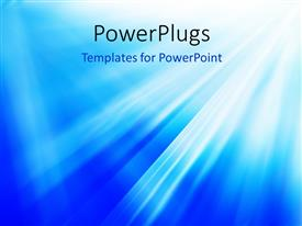 Elegant presentation theme enhanced with bright flash, explosion or burst on the blue background