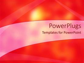Audience pleasing PPT theme featuring bright glow from sky with abstract red and orange background