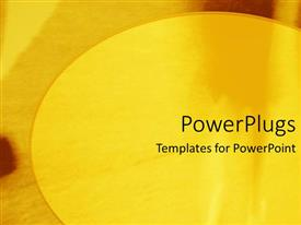 Presentation theme consisting of a bright yellow circle on a patterned yellow background