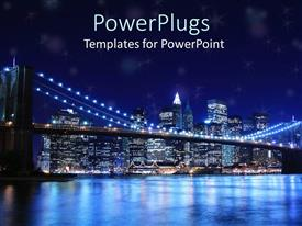 PPT layouts consisting of brooklyn bridge and new york city skyline at night