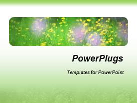 PPT layouts featuring a bunch of flowers with green and white background