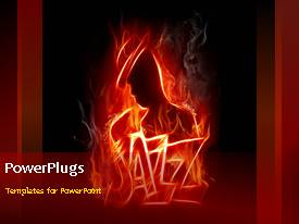 Jazz powerpoint templates ppt themes with jazz backgrounds ppt theme featuring a burning figure with reddish background toneelgroepblik