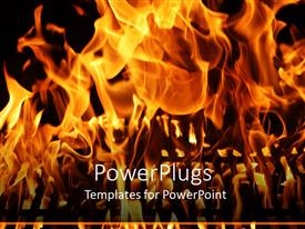 PPT layouts having a burning fire with blackish background