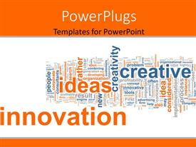 Colorful PPT theme having business background with keywords as innovation, idea, creative, corporate, process