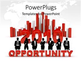 Amazing PPT theme consisting of business opportunity in 2010, with bars