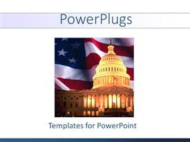 Colorful PPT theme having uS Capitol with American flag background, Congress, politics, political, Washington DC
