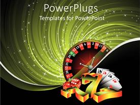 5000 las vegas powerpoint templates w las vegas themed backgrounds slide set with casino items four aces poker ace cards 3d golden and toneelgroepblik Gallery